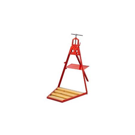 Tragbares Arbeitsgerät mit Schraubstock