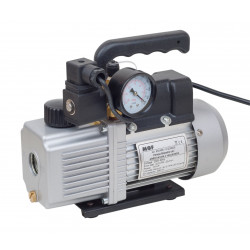 Vacuum Pump two stages for air conditioning with vacuum gauge and solenoid valve
