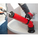 Drain clearing pump PUSH-UP. With push-pull system. Instality plumbing tools
