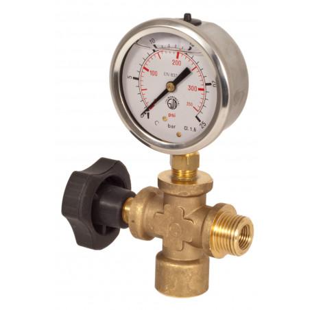 Lockoff valve with gauge HELP 580 PSI Glycerine
