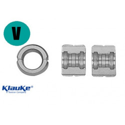 Profile V interchangeable dies, for jaw Klauke MINI